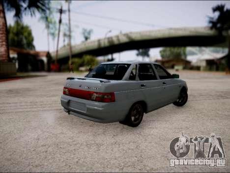 ВАЗ 2110 Рестайлинг для GTA San Andreas вид справа