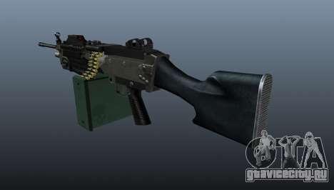 Ручной пулемёт M249 обновлённый для GTA 4 второй скриншот