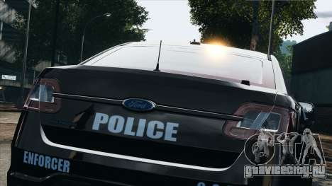 Ford Taurus Police Interceptor 2010 для GTA 4 вид сзади