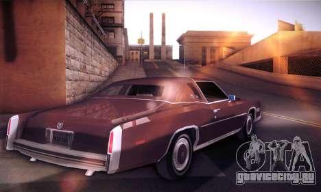 Cadillac Eldorado 1978 Coupe для GTA San Andreas вид сзади слева