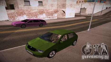 Skoda Fabia для GTA San Andreas вид справа
