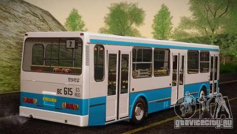 ЛиАЗ 5256.00 Скин-пак 4 для GTA San Andreas вид сзади слева
