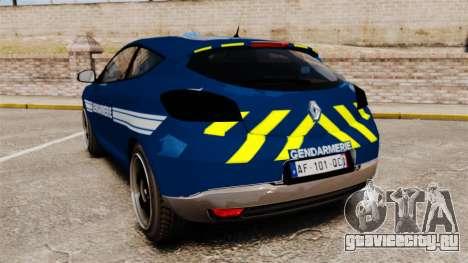 Renault Megane RS Gendarmerie Nationale [ELS] для GTA 4 вид сзади слева