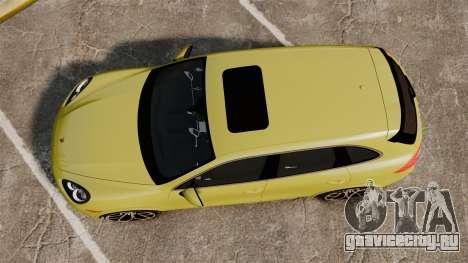 Porsche Cayenne 2012 SR для GTA 4 вид справа