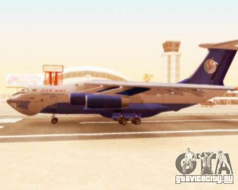 Ил-76ТД Silk Way для GTA San Andreas вид сзади слева