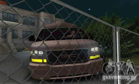 GMC Savana для GTA San Andreas вид снизу