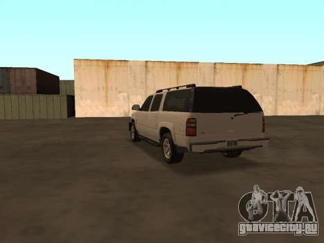 Chevrolet Suburban ATTF для GTA San Andreas вид сзади слева