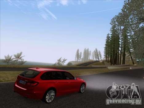 BMW 3 Touring F31 2013 для GTA San Andreas вид сзади слева