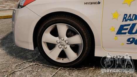 Toyota Prius 2011 Warsaw Taxi v2 для GTA 4 вид сзади