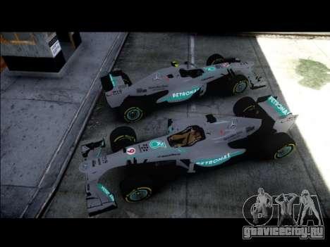 Mercedes F1 W04 для GTA 4 вид сзади слева