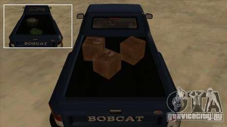 Bobcat HD from GTA 3 для GTA San Andreas вид сзади