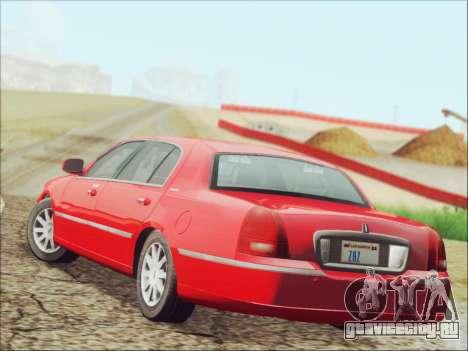Lincoln Town Car 2010 для GTA San Andreas вид сзади слева