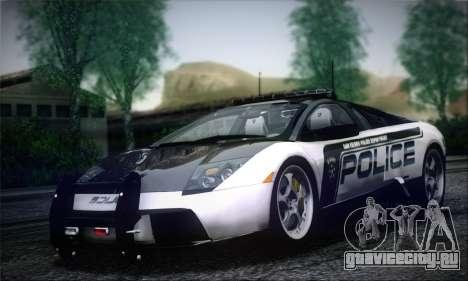 Lamborghini Murciélago Police 2005 для GTA San Andreas