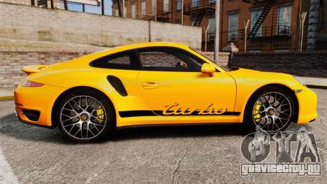 Porsche 911 Turbo 2014 [EPM] Turbo Side Stripes для GTA 4 вид слева
