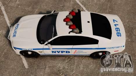 Dodge Charger 2012 NYPD [ELS] для GTA 4 вид справа