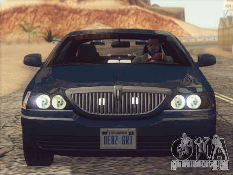 Lincoln Town Car 2010 для GTA San Andreas вид сбоку