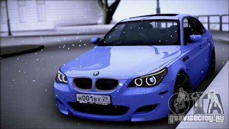 BMW M5 Е60 для GTA San Andreas вид слева