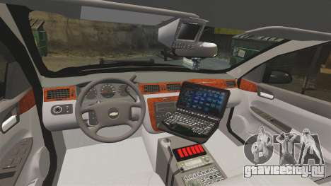 Chevrolet Impala 2008 LCPD STL-K Force [ELS] для GTA 4 вид сзади