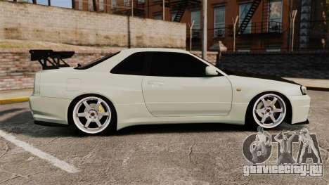 Nissan Skyline GT-R V-Spec II Mk.X [R34] для GTA 4 вид слева