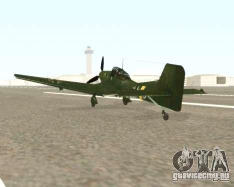 Junkers Ju-87 Stuka для GTA San Andreas вид сзади слева