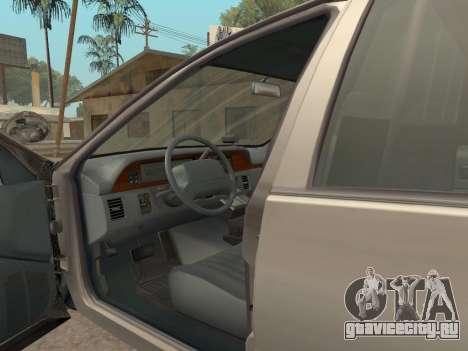 Chevrolet Caprice SFPD 1991 для GTA San Andreas вид сзади