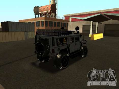 Hummer H1 Offroad для GTA San Andreas вид сзади слева
