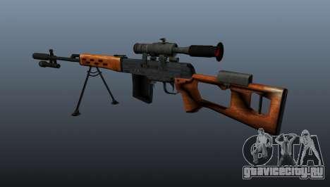 Снайперская винтовка Драгунова A&K для GTA 4 второй скриншот