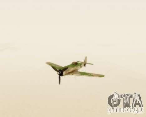 Focke-Wulf FW-190 D12 для GTA San Andreas вид сзади