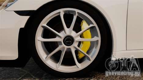 Porsche 911 GT3 (991) 2013 для GTA 4 вид сзади