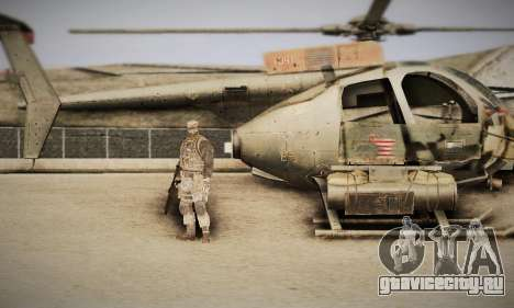 Spec Ops The Line AH6 для GTA San Andreas вид справа