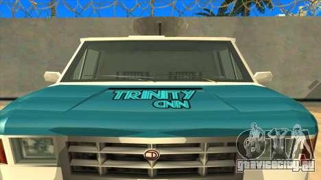 News Van HQ для GTA San Andreas вид справа