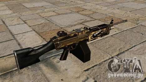 Ручной пулемёт M249 Camo для GTA 4 второй скриншот