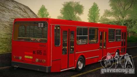 ЛиАЗ 5256.00 Скин-пак 4 для GTA San Andreas вид снизу