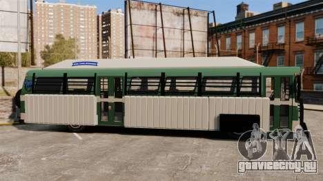 Бронированный автобус для GTA 4 вид слева