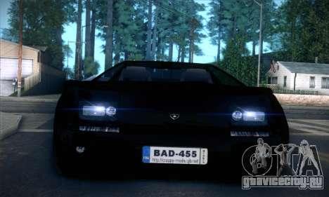 Lamborghini Diablo VT6.0 для GTA San Andreas вид сверху