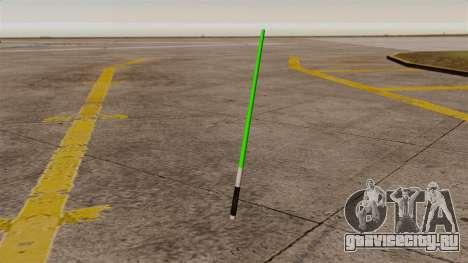 Зелёный лазерный меч Star Wars для GTA 4