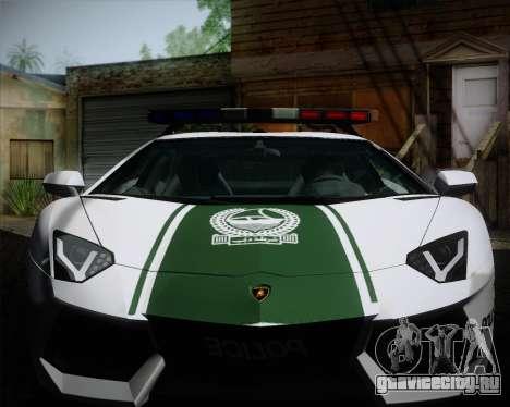 Lamborghini Aventador LP700-4 2012 RCPD V1.0 для GTA San Andreas вид изнутри