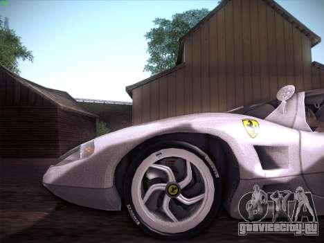 Ferrari P7 Chromo для GTA San Andreas вид изнутри