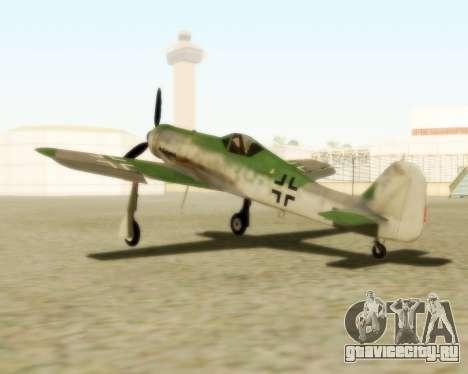 Focke-Wulf FW-190 D12 для GTA San Andreas вид слева