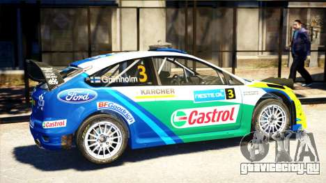 Ford Focus RS M Gronholm Rally Finland WRC для GTA 4 вид слева