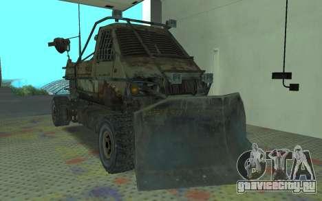 ГАЗель из Метро 2033 для GTA San Andreas вид сзади слева