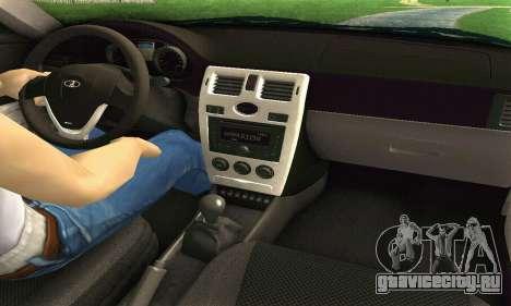 ВАЗ 2170 Приора White & Black для GTA San Andreas вид справа