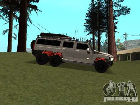 Hummer H3 6x6 для GTA San Andreas вид сзади