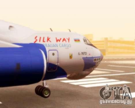 Ил-76ТД Silk Way для GTA San Andreas вид сзади