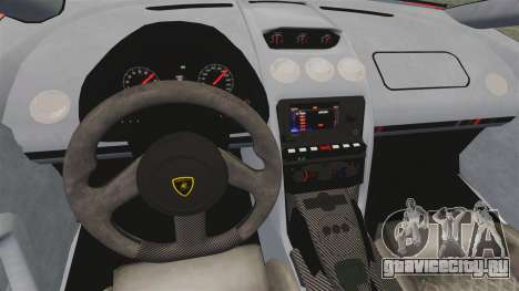 Lamborghini Gallardo 2013 для GTA 4 вид изнутри