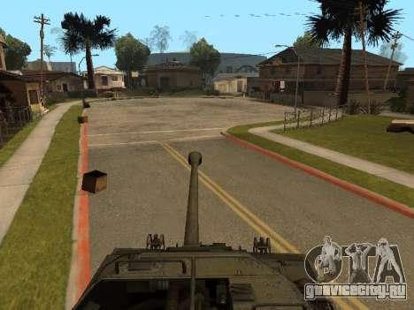 M18-Hellcat для GTA San Andreas вид изнутри