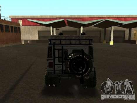 Hummer H1 Offroad для GTA San Andreas вид справа