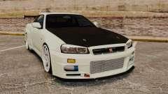 Nissan Skyline GT-R V-Spec II Mk.X [R34] для GTA 4