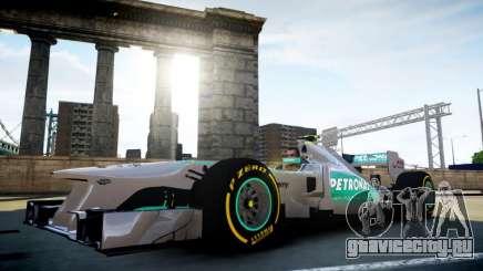 Mercedes F1 W04 (Airtug) для GTA 4