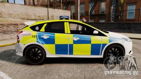 Ford Focus 2013 Uk Police [ELS] для GTA 4 вид слева
